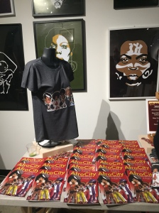 pic of Afrodelik comic book, artwork and t- shirts